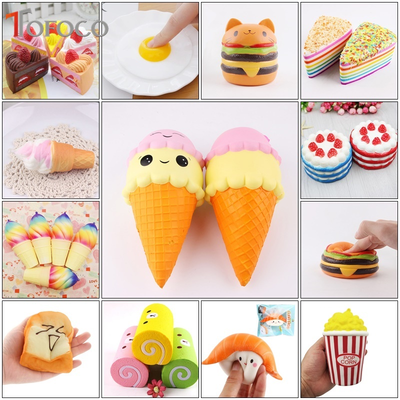 Novelty & Gag Toys Popular Surprise Kids Squishy Toy Soft Squish Sports Stress Relief Antistress Decor Squeeze Plastic Earth Novelty Gag Shocker