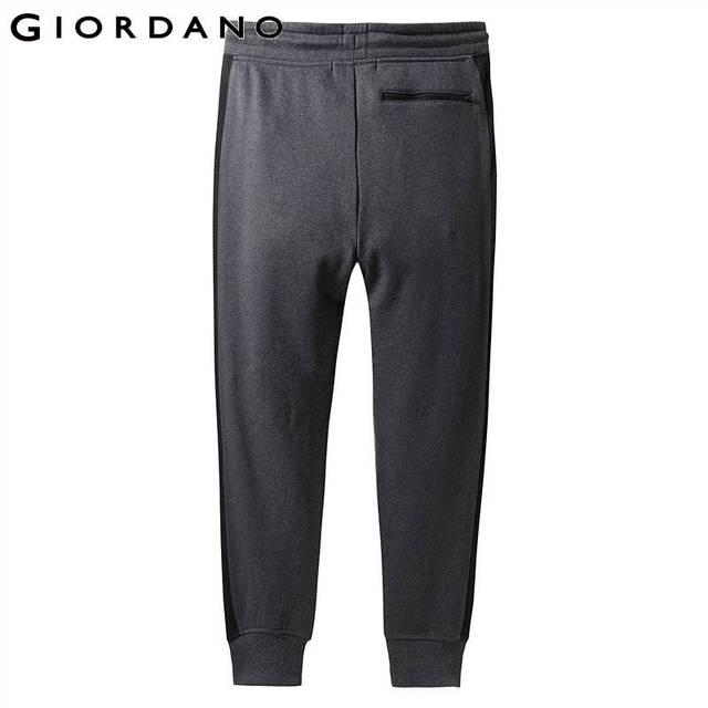Giordano Men Pants Zip Pocket Terry Joggers For Men Knitted Jogger Pants Male Moletom Masculino Pantalones Hombre Casual 47