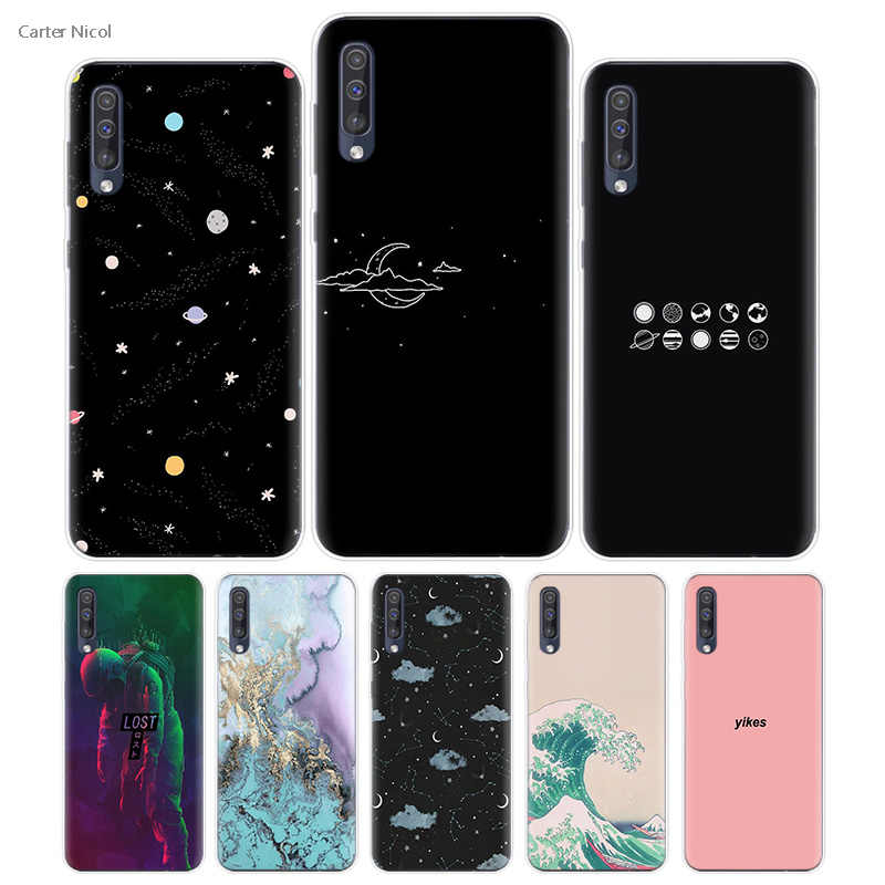 Transpatrent Silicone Case for Samsung Galaxy A50 A70 A30 M30 M20 A10 A20 A40 M20 Cover Phone Dark Space Locked Reason