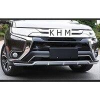 Для Mitsubishi Outlander 2018 2017 2016 высокое качество! Спереди + задний бампер Нескользящая защитная пластина