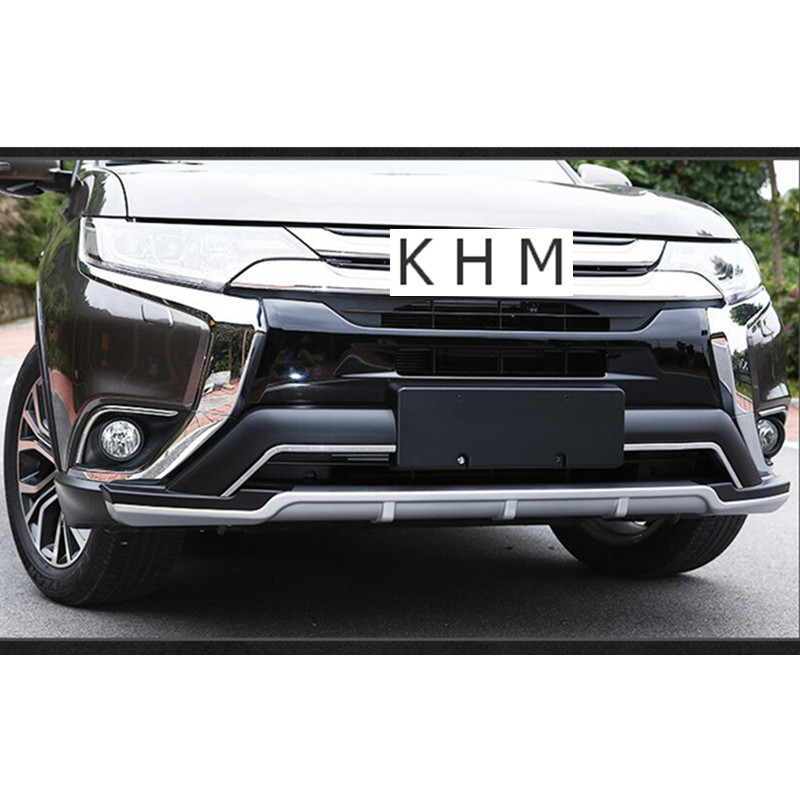 US $357 2 6% OFF|For Mitsubishi Outlander 2016 2017 2018 High Quality!  Front + Rear Bumper Skid Protector Guard Plate-in Chromium Styling from