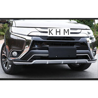 For Mitsubishi Outlander 2016 2017 2018 High Quality! Front + Rear Bumper Skid Protector Guard Plate