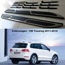 Для Volkswagen VW Touareg 2011-2016 Автомобиля Подножки Авто Сторона шаг Бар Педали Высокое Качество Новый Европейский Стиль Nerf бары