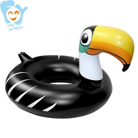 Dia 120cm Inflatable Tucan Swimming Ring Water Swimming Ring Floats Pool Fun Toys Adult Flotador Piscina
