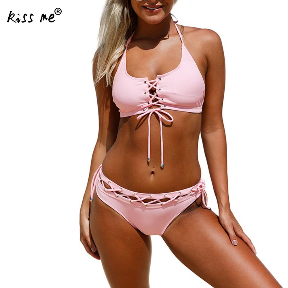 Push Up Swimwear Female 2017 Summer Women Sexy Bikini Set Lace Up Bandage Swimsuit Beachwear Bathing Suit Brazilian Biquini xxl паззл trefl классические паззлы для малышей деликатесы