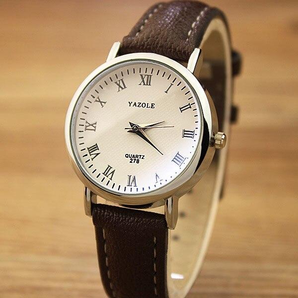 все цены на YAZOLE 2017 Ladies Wrist Watch Women Brand Famous Female Clock Quartz Watch Hodinky Quartz-watch Montre Femme Relogio Feminino