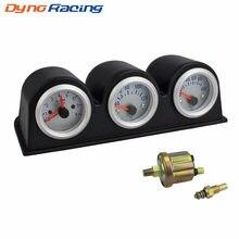 Juego de manómetro Triple de 2 ''y 52MM medidor de temperatura del agua, RPM, presión de aceite, medidor de coche YC100651