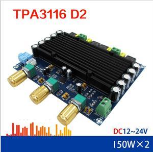 Image 3 - DC 12V 24V TPA3116 150w + 150w 2.0 ערוץ כפול סטריאו HIFI דיגיטלי אודיו מגבר לוח TPA3116D2 Amplificador