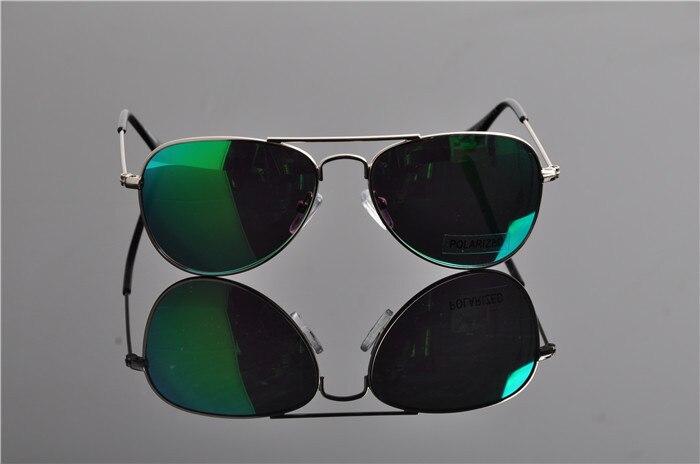 Детская UV400 поляризованные со специальным покрытием для гонок солнечные Горячие модная детская одежда пилота зеркала солнцезащитные очки с Чехол Ткань EV0831 - Цвет линз: green lens