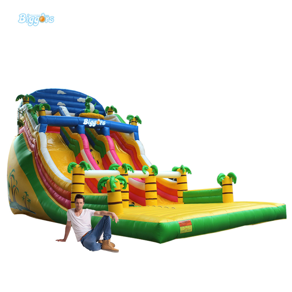 Party Tropical Theme Inflatable Toboganes Slide Bouncing House Water Slide Gonfiabili Inflatables For Sale 6 4 4m bounce house combo pool and slide used commercial bounce houses for sale