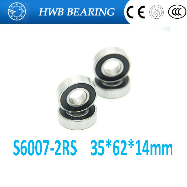 Free Shipping 35*62*14 mm stainless steel ball bearings s6007 2rs steel hybrid ceramic ball bearing free shipping s693 2rs cb ld abec7 3x8x4 mm stainless steel hybrid ceramic ball bearings fishing vessel bearing