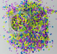 BLAU Matte Neon Glitter Punkte Flecken Mix Acryl Gel Nail art 1mm 2mm 3mm Bunte Glitter Nagel kunst Dekoration # PLT-03 #001