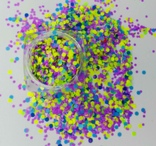 BLUE Matte Neon Glitter Dots Spots Mix Acrylic Gel Nail Art 1mm 2mm 3mm Colorful Glitter Nail Art Decoration #PLT-03 #001 1kg 3mm round glitter powder for nail polish or gel 1mm and 2mm selectable glitter in bulk dot glitter silver gold color