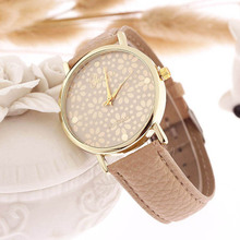 2016 Hot New Arrival Fashion Women's Design Dial Leather Band Analog Quartz Wrist Watch Freeshipping & Wholesale