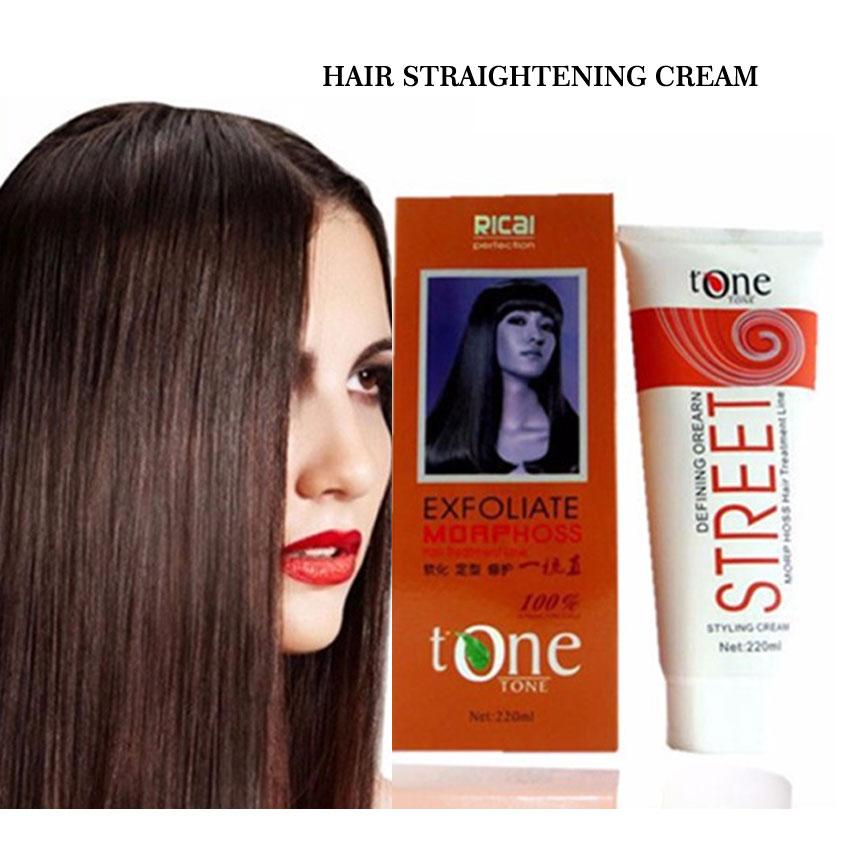 Permanent Hair Straightening Cream Brazilian Keratin
