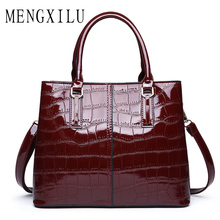 купить MENGXILU High Quality Crocodile Leather Handbag Luxury Pattern Leather Crossbody Bag Women Famous Designer Shoulder Messenger по цене 1606.79 рублей