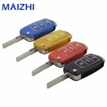 Maizhi 3 кнопки Uncut Клинок удаленного складной Ключи В виде ракушки чехол для Volkswagen VW Jetta Гольф Passat Beetle Мужские поло bora замены