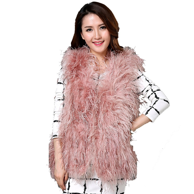 2017 nouvelle australie top qualité vraie autruche laine dinde plume manteau shearling femmes vestes élégant mode spécial manteau