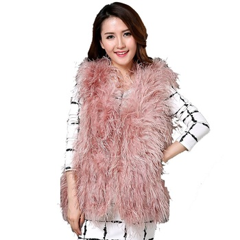 2019 new Australia  top quality  real ostrich wool turkey feather coat shearling women jackets elegant fashion special coat
