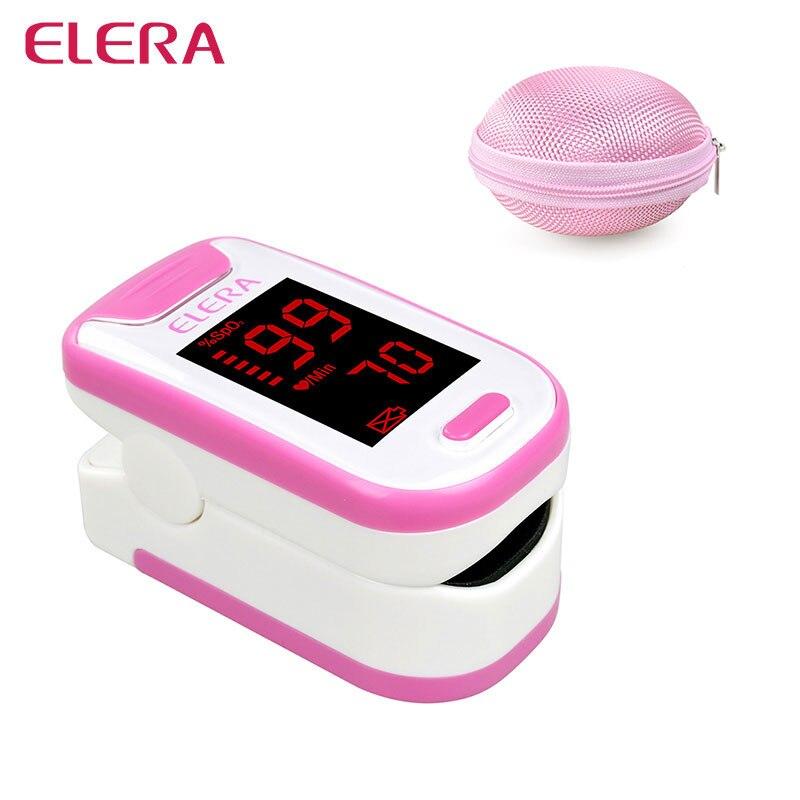 ELERA Portable Doigt Oxymètre de Pouls Avec Boîtier Rond Oxymètre de Pulso numérique SPO2 PR Pulsioximetro un Doigt