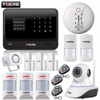 WiFi Internet GSM GPRS SMS OLED Home Alarm System Security Kit HD IP Camera GSM Alarm