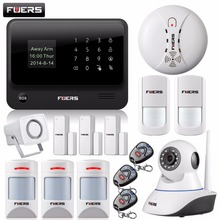 Fuers WiFi GSM GPRS SMS OLED Home Alarm System Security Kit HD IP Camera GSM alarm system with Spanish/Russian/English/French