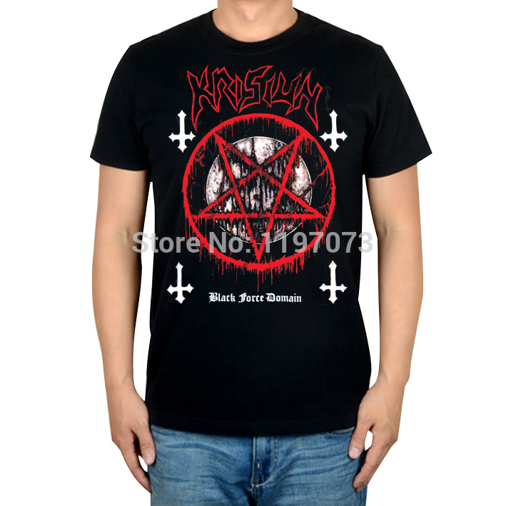 Krisiun Black Force Domain album cover mens black death metal brutal death metal 100% cotton T-Shirt