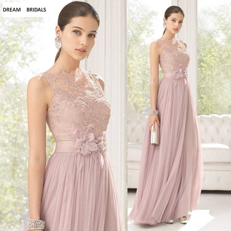 New vestido de festa A-Line Appliques Scoop Off The Shoulder Chiffon   Bridesmaid     Dresses   2019
