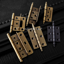 Retro 10PCS 2.5inch European Antique Furniture Hinges Cabinet Mute Door Bearing Hinges Screen Splints Hinges Without Slotting stainless steel black hinges for door high quality mute bearing flat hinges 4 inch