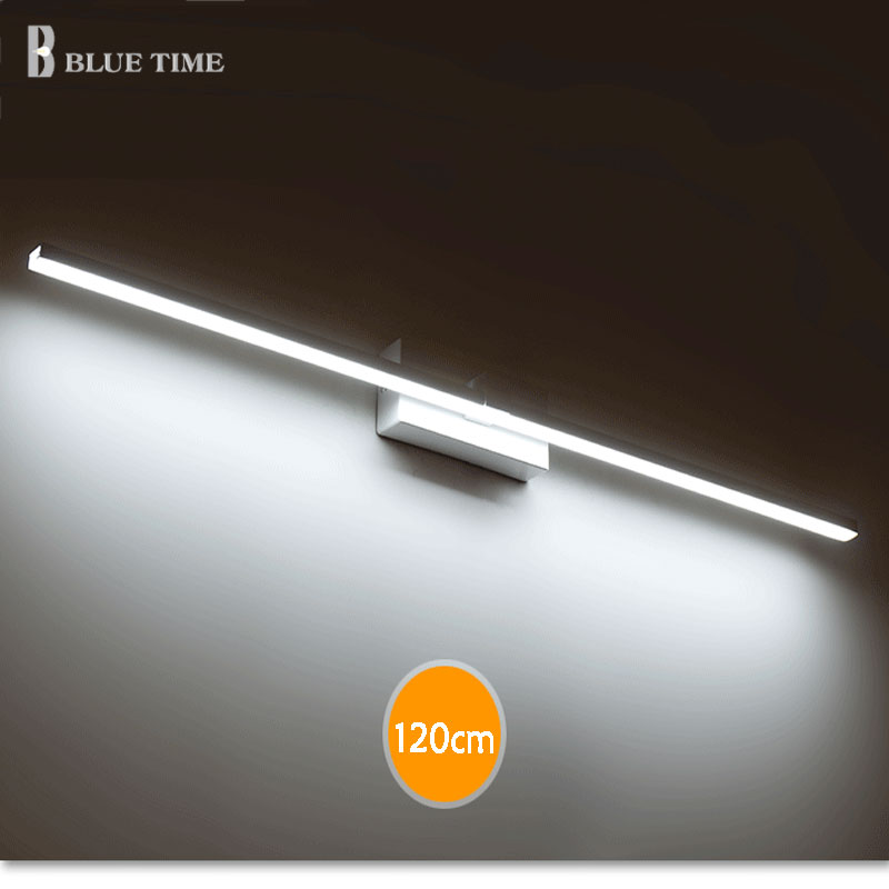 40cm 50cm 60cm 70cm 80cm 100cm 120cm Modern LED Mirror Wall Light AC90 260V Cosmetic Acrylic Wall lamp Bathroom Lighting