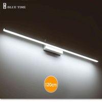 40cm 50cm 60cm 70cm 80cm 100cm 120cm Modern LED Mirror Wall Light AC90 260V Cosmetic Acrylic Wall lamp Bathroom Lighting