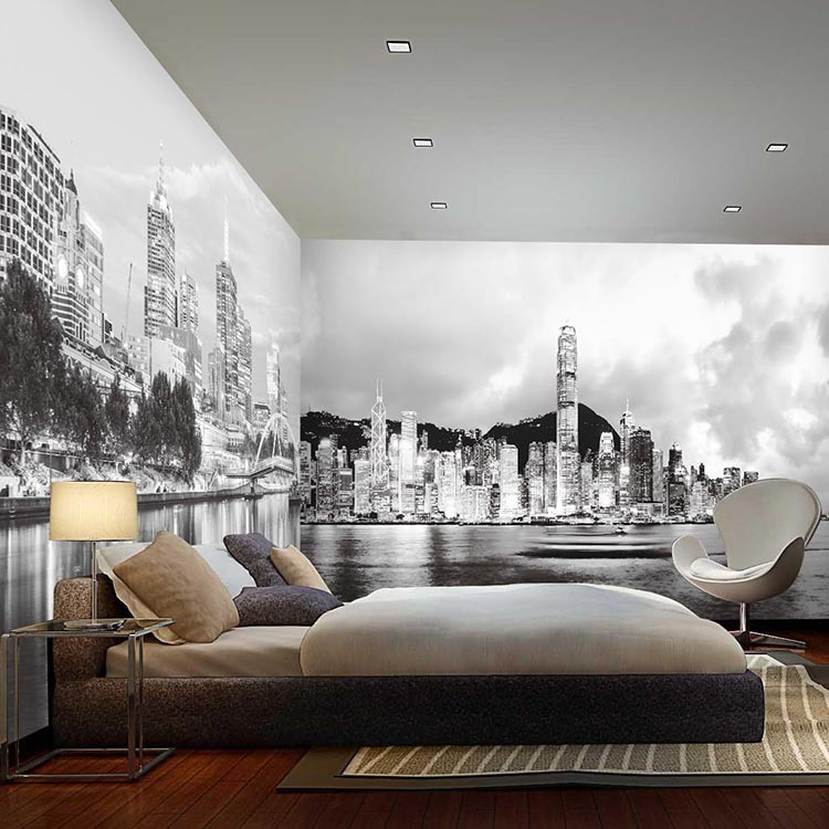 Marvelous Blacku0026white 5D Papel Murals New York City 3d Photo Mural 3d Wallpaper For  Bedroom Sofa Background 3d Wall Murals Wall Paper In Wallpapers From Home  ...