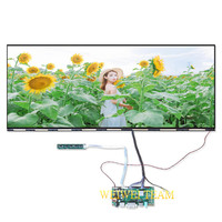 Widescreen 25 inch IPS LCD Screen Display Panel 2560X1080 Ultra Wide Boarderless with HDMI DVI LVDS Controller Board