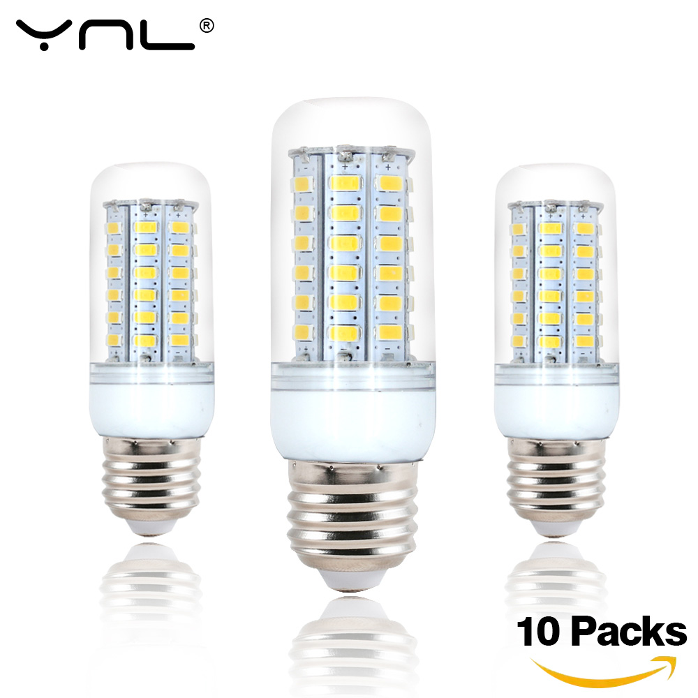 10pcs Lampada LED Lamp E27 220V 24 36 <font><b>48</b></font> 56 69 72 96 LED Bulb Corn SMD 5730 lamparas de Bombillas LED Light Ampoule Lighting image
