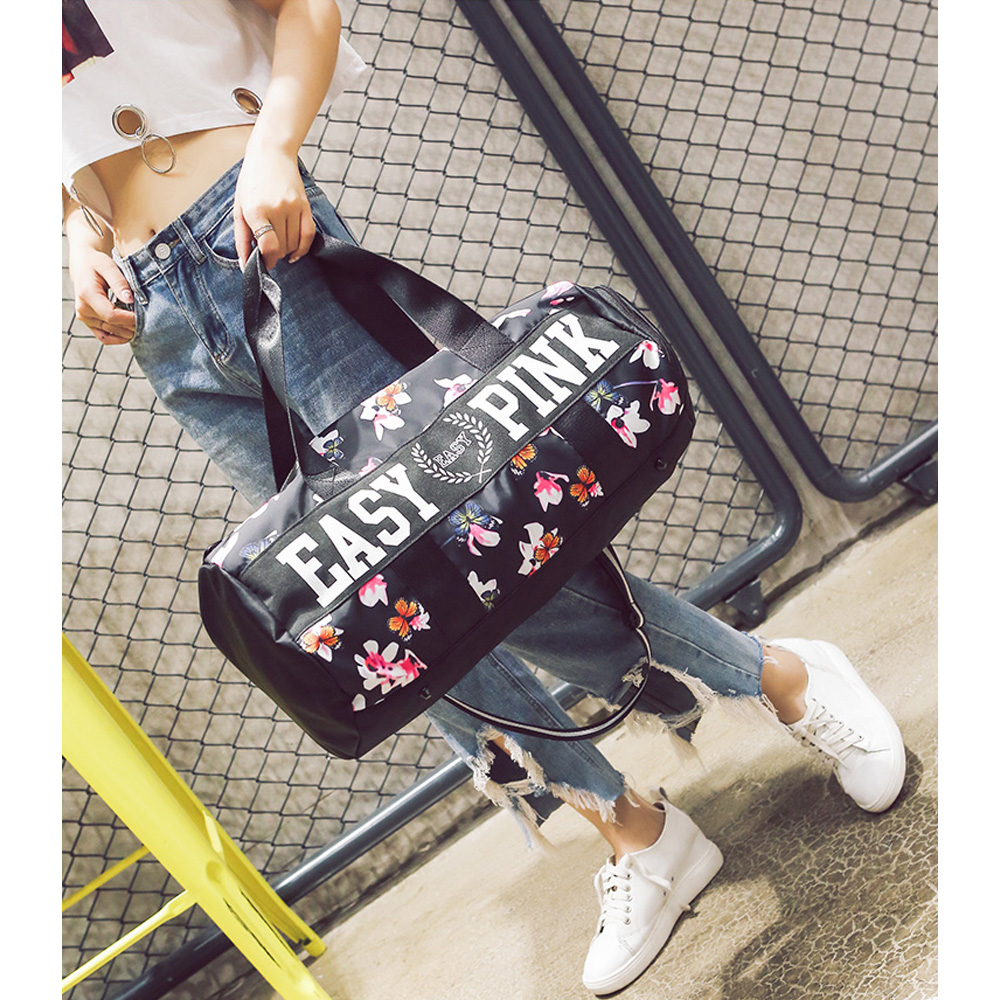 2018 Fitness gym bag for women Shoes bag Handbag Femalesport bag for women GymSack Yoga Mat Travel bag Printing sac de sport