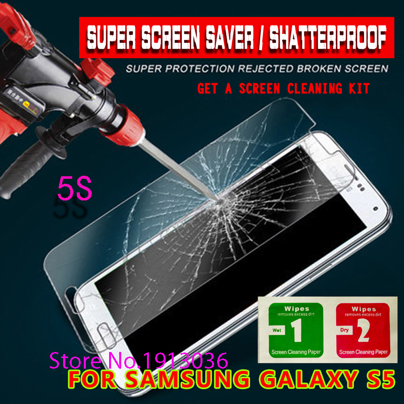 For Samsung Galaxy S5 safety Tempered Glass Thin HD Clear Screen Protector Film I9600 mobile phone android  fundas  grand prime