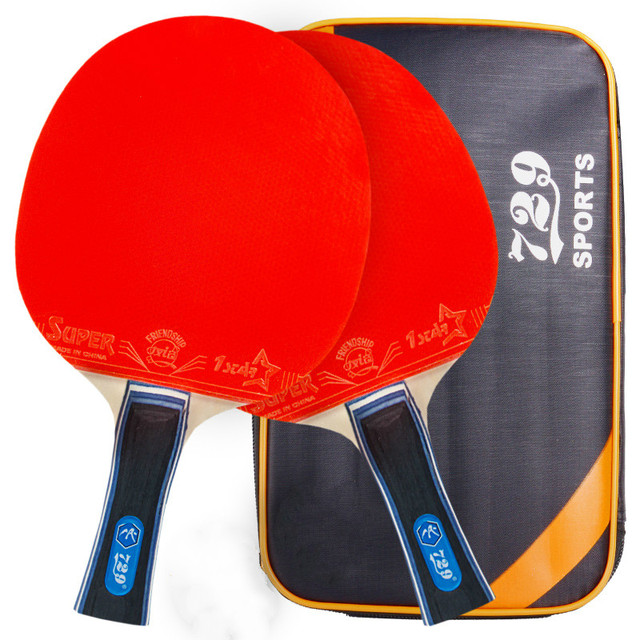 09ef6dcc786b Friendship 729 LONG HANDLE Ping Pong Paddle Advanced Training Table Tennis  Racket With Carry Case