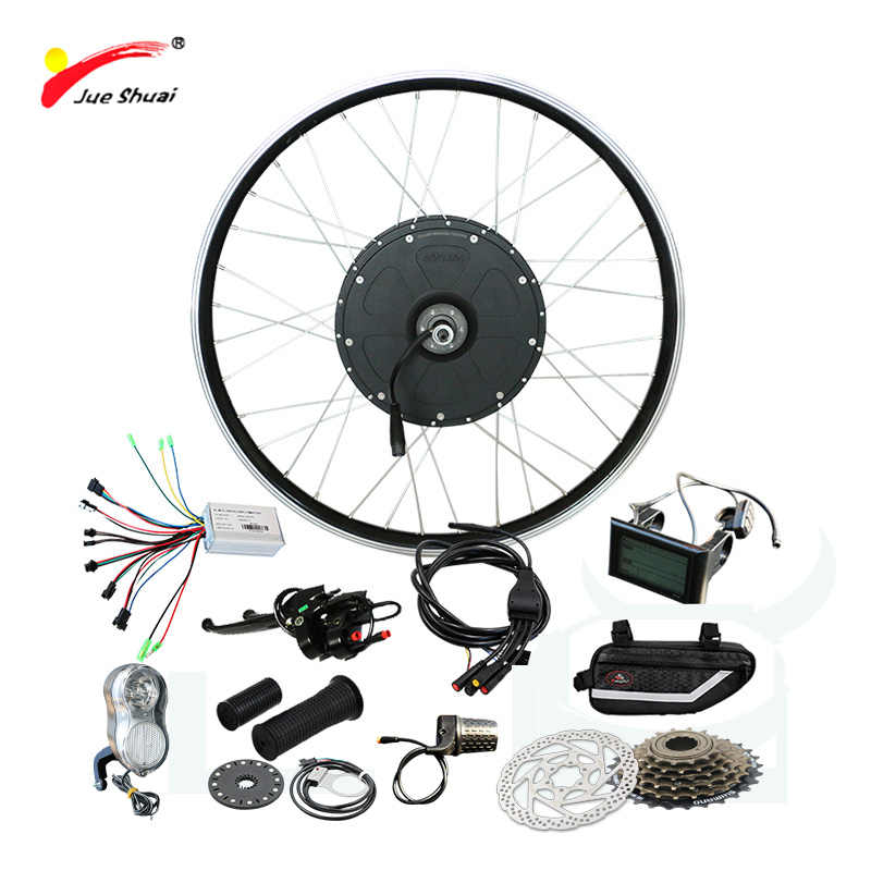 Powerful 48V 1000W Electric Bike Kit Brushless Hub Motor Wheel bicicleta electrica E-bike Kit 48 1000W Electric Bike Powerful