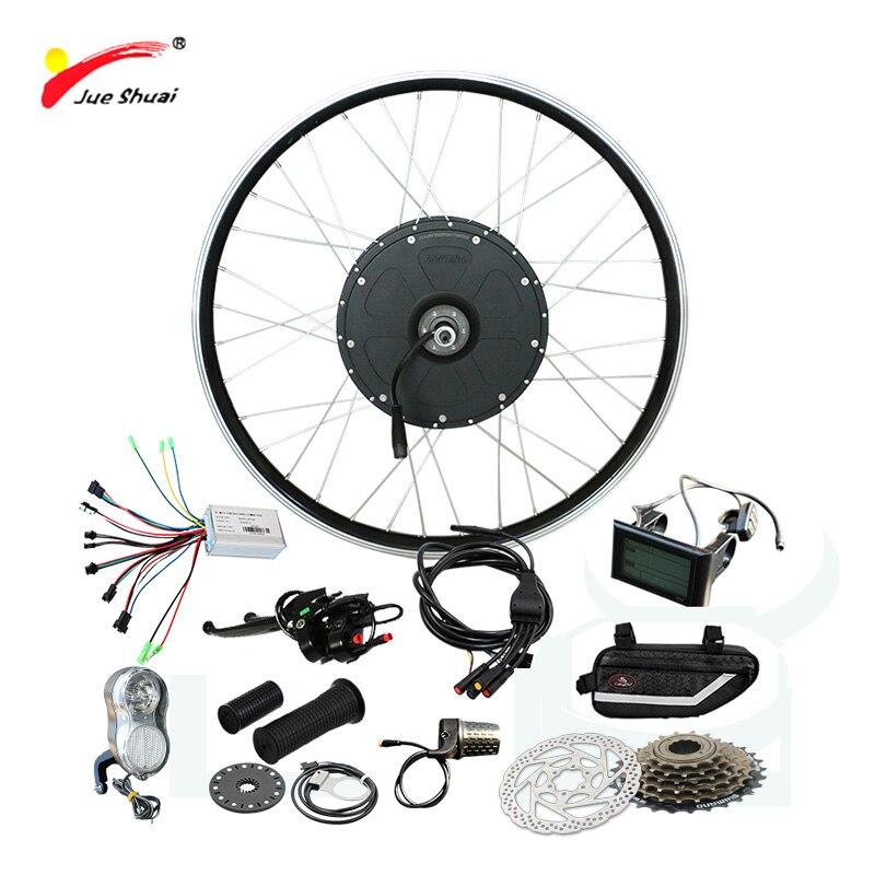 Puissant Kit de vélo électrique 48 V 1000 W roue de moteur sans balais bicicleta electrica Kit de vélo électrique 48 1000 W puissant