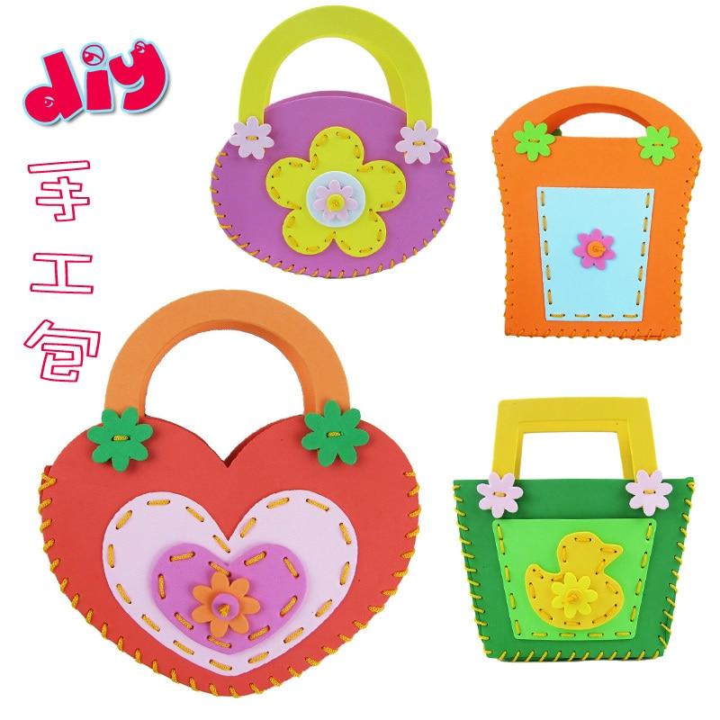 Eva handmade bag sticker child diy many kinds of handbag toy bag