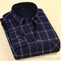 Men Velvet Lined Plaid Warm Camisa Social Masculina Large Size Long Sleeve Slim Fit Business Menswear Form-fitting Cardigan 4XL