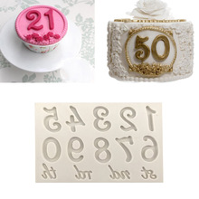 Mold 3D Decorating-Tools Chocolat-Mold Digital-Mould Cakes Numbers Silicone Kitchen Anniversary