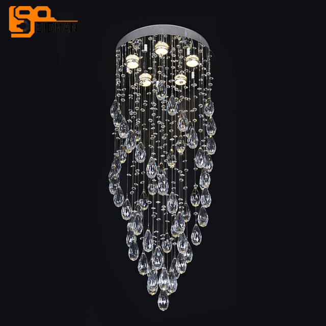 New design diameter 50cm modern crystal chandelier led gu10 luminare new design diameter 50cm modern crystal chandelier led gu10 luminare long staircase chandelier lighting fixtures aloadofball Image collections