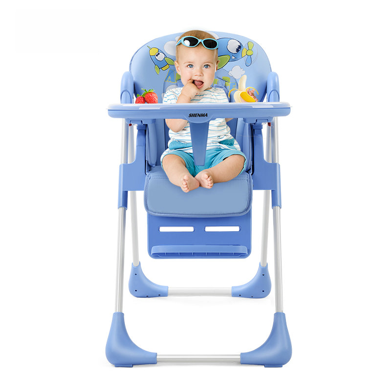 SHENMA 4 In 1 Adjustable Baby Feed Chair, Fold Baby Highchair, Portable Baby Dining Table Chair
