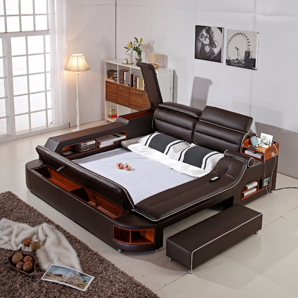 Muebles De Dormitorio 2018 Limited New Arrival Modern Bedroom Set Moveis  Para Quarto Furniture Massage Soft Bed With Safe  In Bedroom Sets From  Furniture On ...