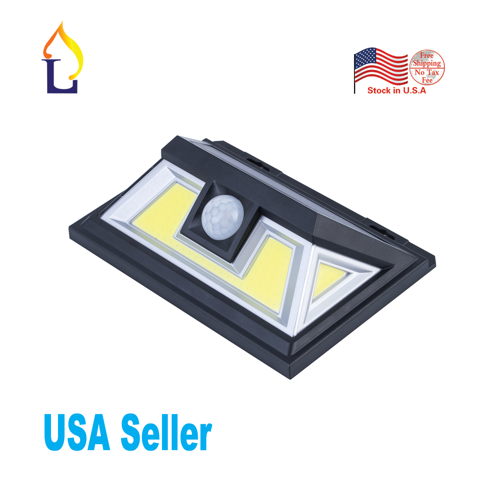 US stock 5 pack 2018 new style dusk to dawn outdoor solar