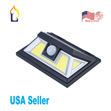 US stock 5 pack 2018 new style dusk to dawn outdoor solar human motion detectiong wall light water-proof IP65 grade