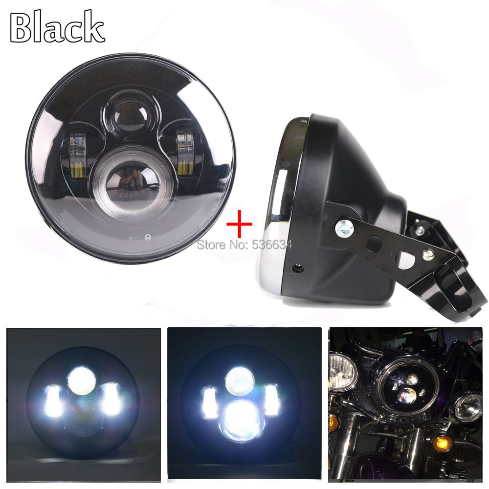 7 inch led Projector headlight Daymaker With Matching Headlamp Shell or Lamp Shell Clamps for Harley Davidson Softail Slim