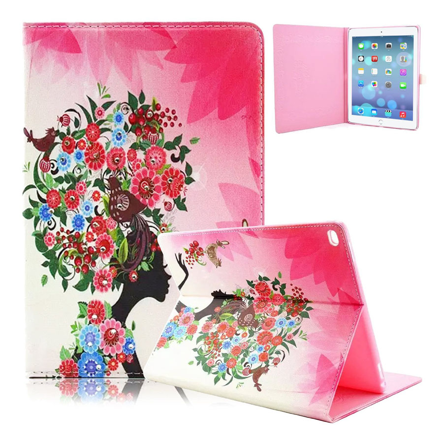 For iPad Pro Case Leather Shining Diamond Design Perfect-fit PU Leather Flip Stand Smart Cover Case for iPad Pro 12.9 Coque flip left and right stand pu leather case cover for blu vivo air