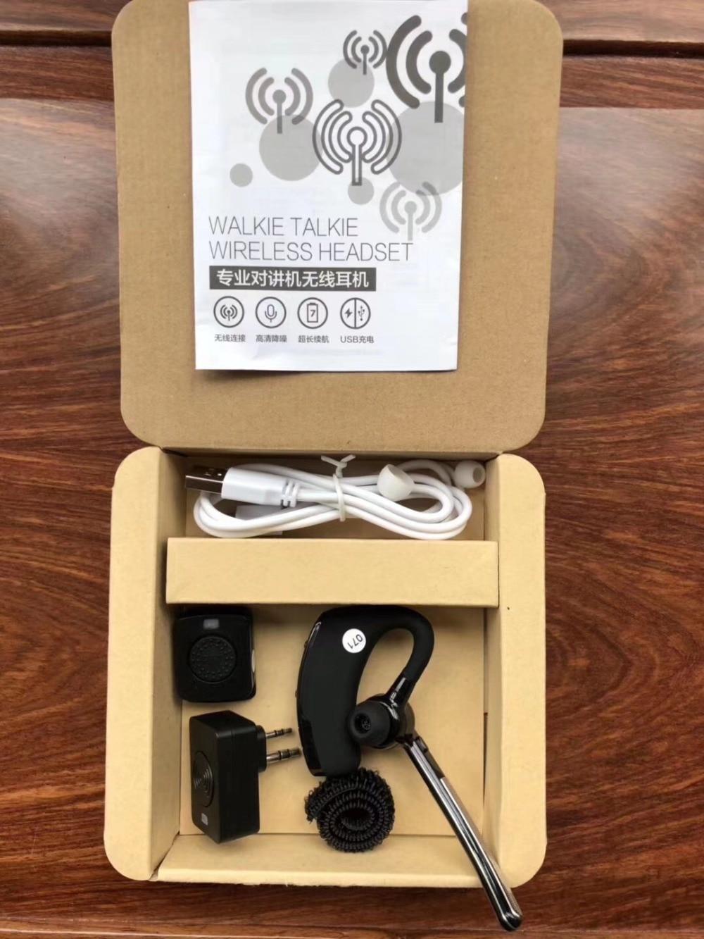 Hands-free Bluetooth Auricolare per il Walkie Talkie TK port trasduttore auricolare senza fili Moto HF PTT Auricolare per Motorola BaoFeng kenwood